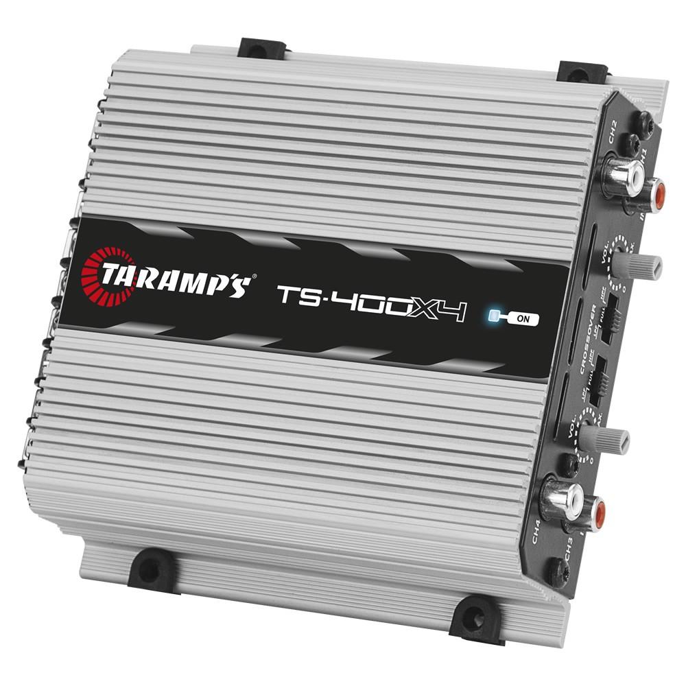 Módulo Amplificador Digital Taramps TS 400x4 - 400W RMS 4 Canais 2 Ohms