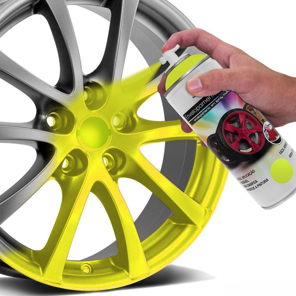 Spray de Envelopamento Líquido Multiuso Multilaser 400 ML Amarelo Fluorescente AU427 (EL09)