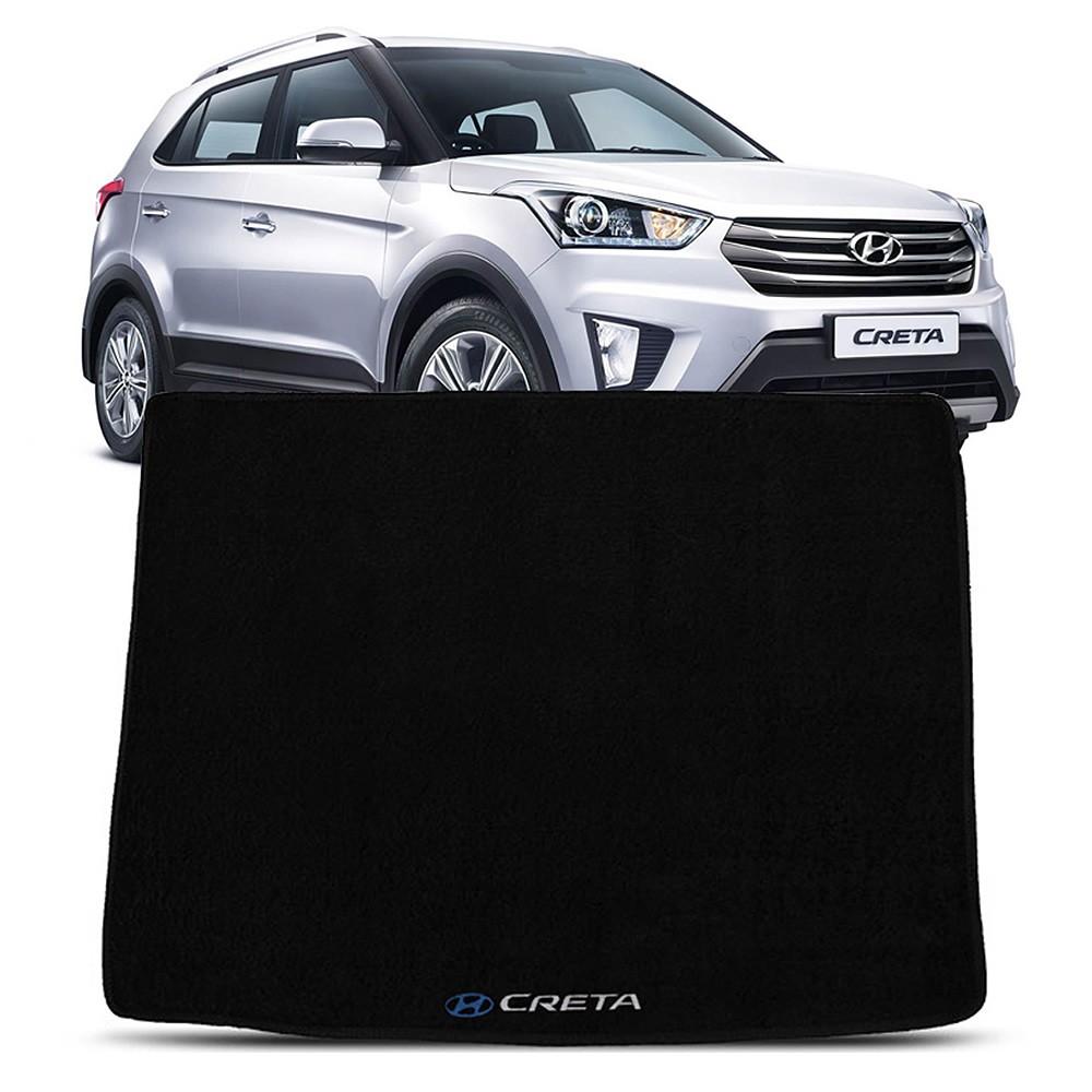 Tapete Carpete Porta Malas Hyundai Creta Preto Logo Bordado (TPC50)