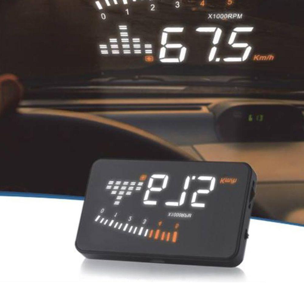 Velocímetro Digital Projetor de Pára-Brisa OBD2 e EOBD Tech One