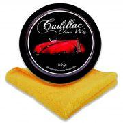Cera em Pasta Cleaner Wax 300g com Aplicador e Flanela 40x40cm Cadillac