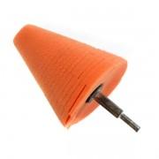 Cone de Espuma Laranja 4 pol para Polimento de Rodas Lake Country