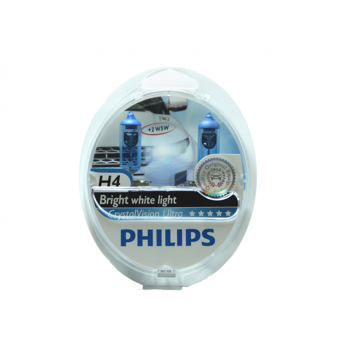 Kit Lampadas Philips Crystal Vision H4 Super Branca