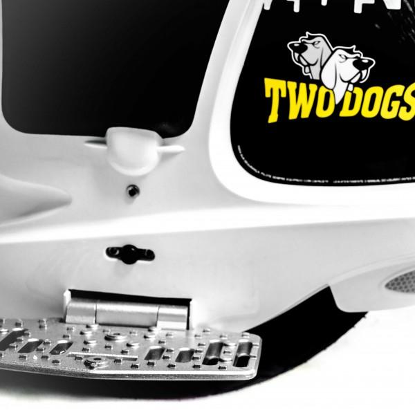 SUPER WHEEL SELF BALANCE BRANCO TWO DOGS