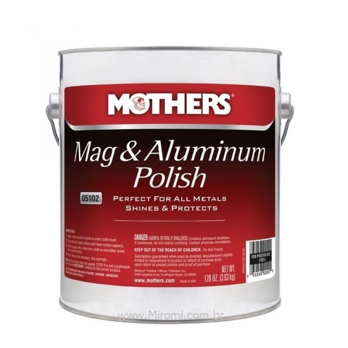 Polidor de Metais e Alumínios Mag & Aluminum Polish 3,6kg Mothers