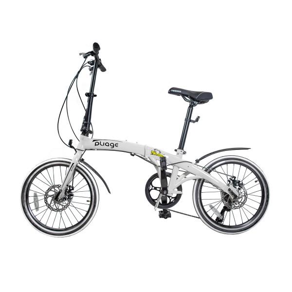 Bicicleta Dobrável Pliage Branca Two Dogs