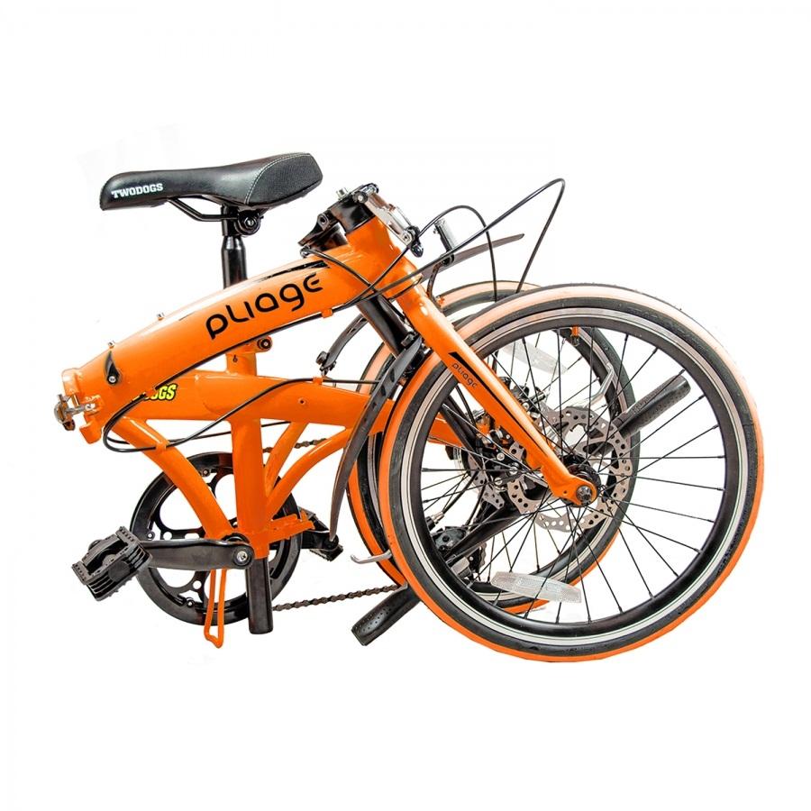 Bicicleta Dobrável Pliage Laranja Two Dogs