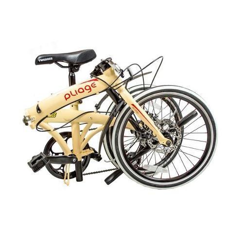 Bicicleta Dobrável Pliage Bege Two Dogs