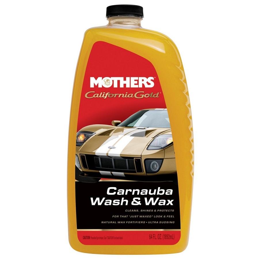Shampoo com Carnaúba Wash and Wax Califórnia Gold 1,89lt Mothers