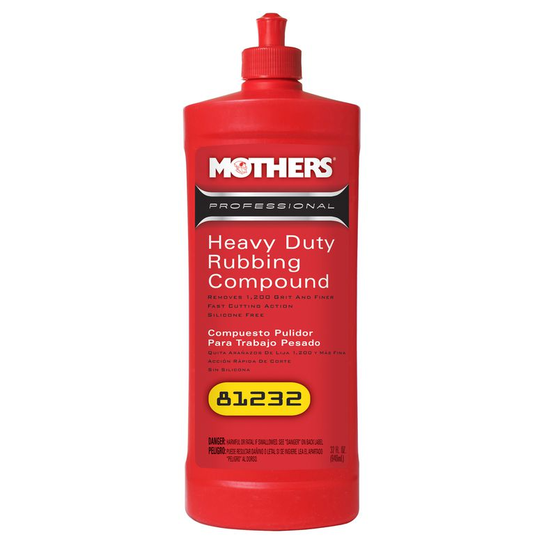 Composto Polidor para Trabalho Pesado Heavy Duty Rubbing Compound 946ml Mothers