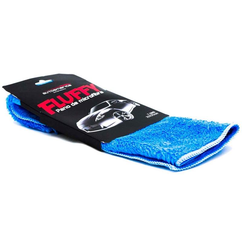 Flanela de Microfibra Fluffy Azul Soft 35x35cm Autoamerica