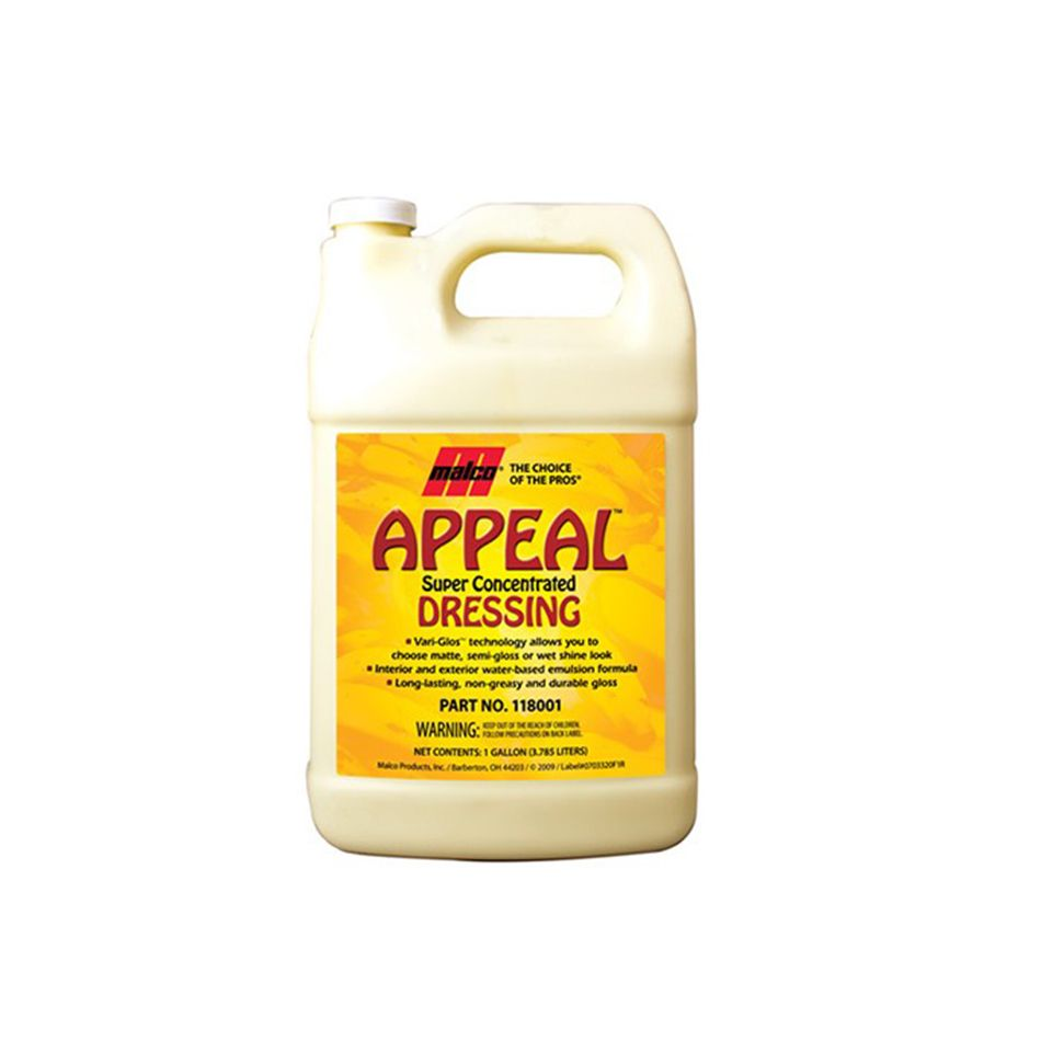 Abrilhantador para Plástico, Borracha e Vinil Appeal Super Concentrated 3,78lt Malco