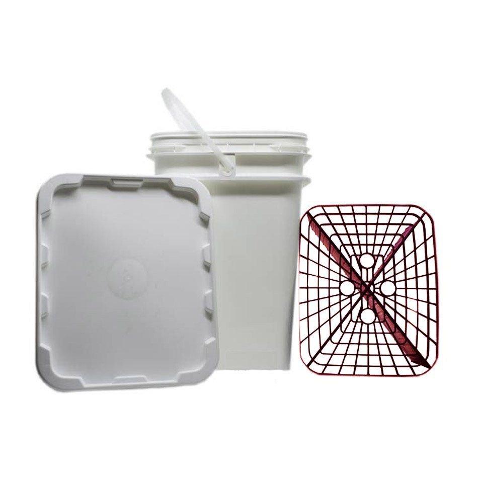 Kit de Balde com Separador de Partículas Vermelho + Balde com Separador de Partículas Azul 18lt Ultimate Filter