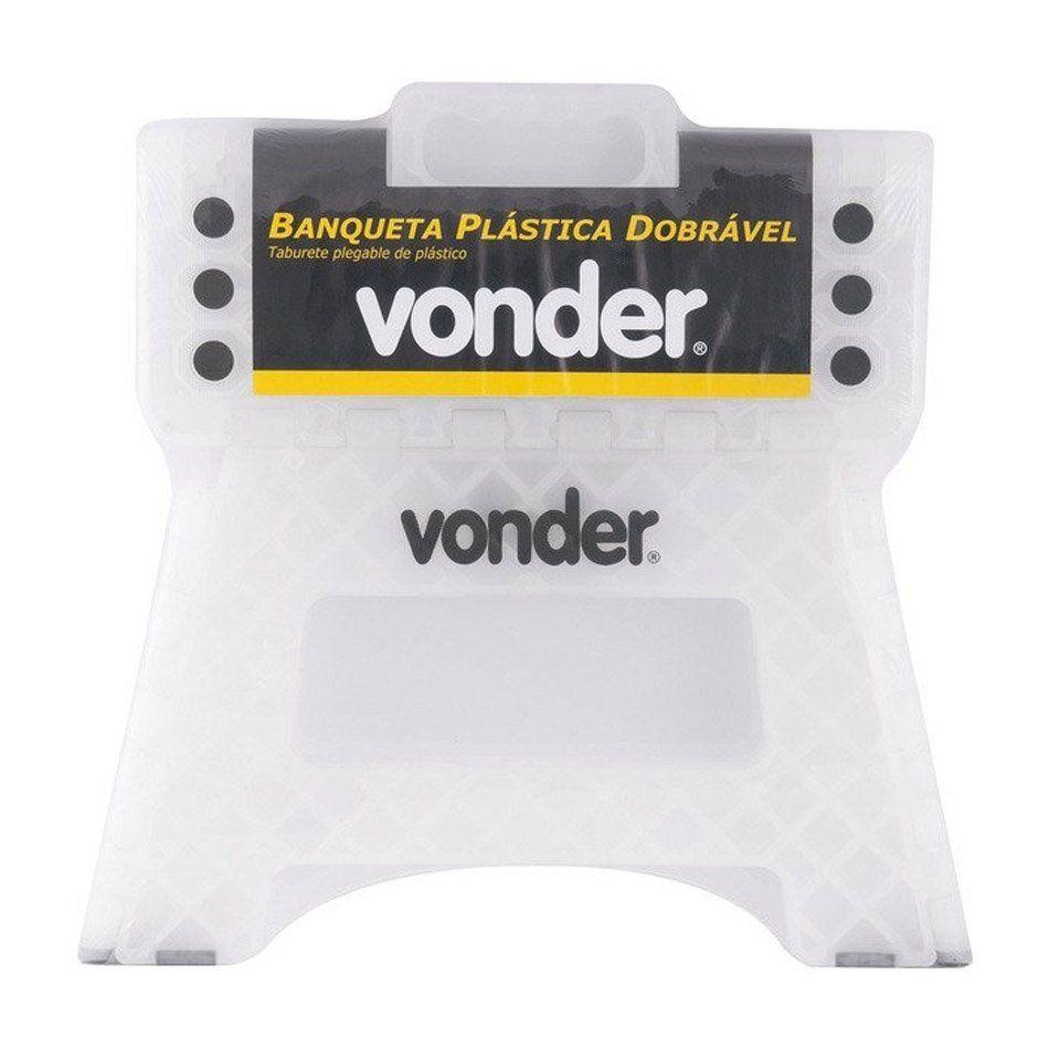 Banqueta Plástica Dobrável 220mm Vonder