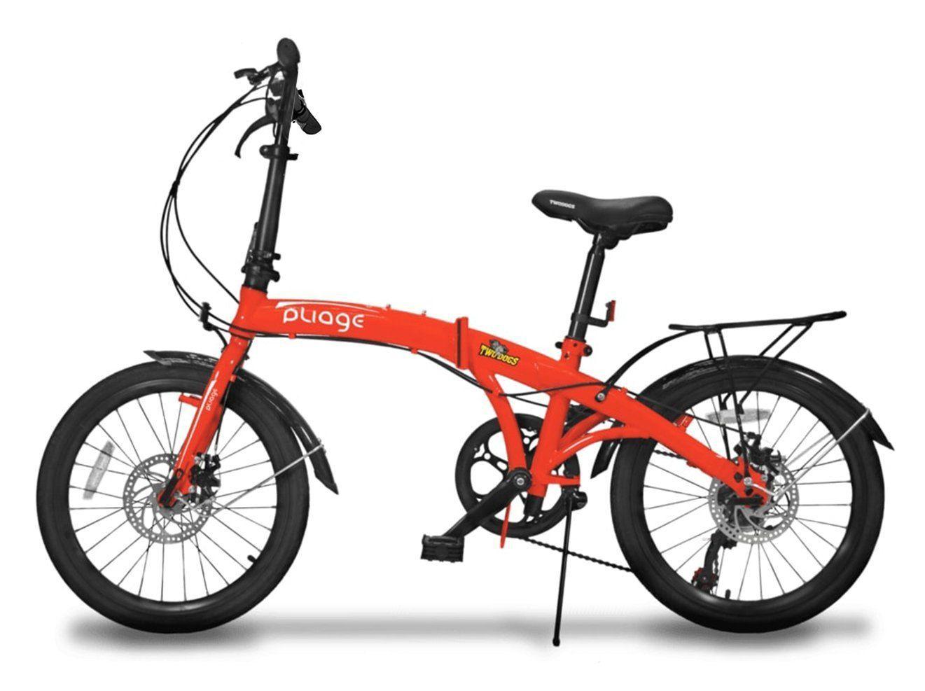 Bicicleta Dobrável Pliage Plus Vermelha Two Dogs