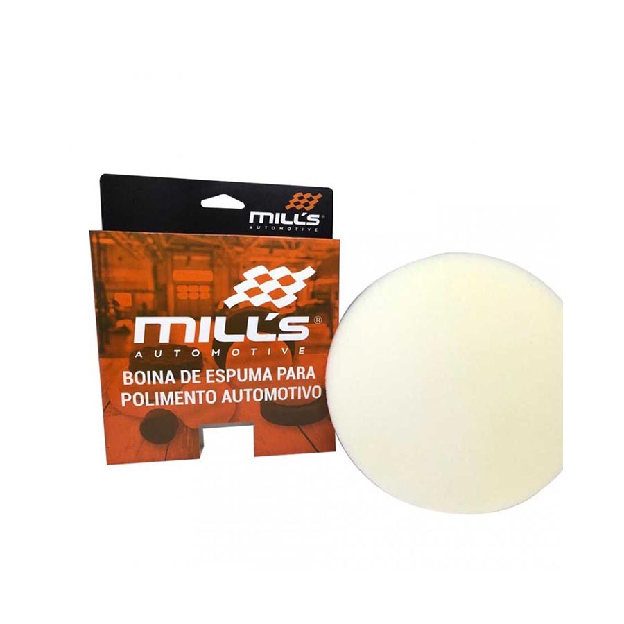 Boina de Espuma Branca Mácia 6 pol Lisa Mills