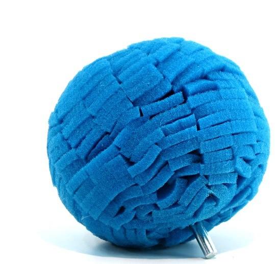 Bola de Espuma Azul 4 pol para Polimento de Rodas Lake Country