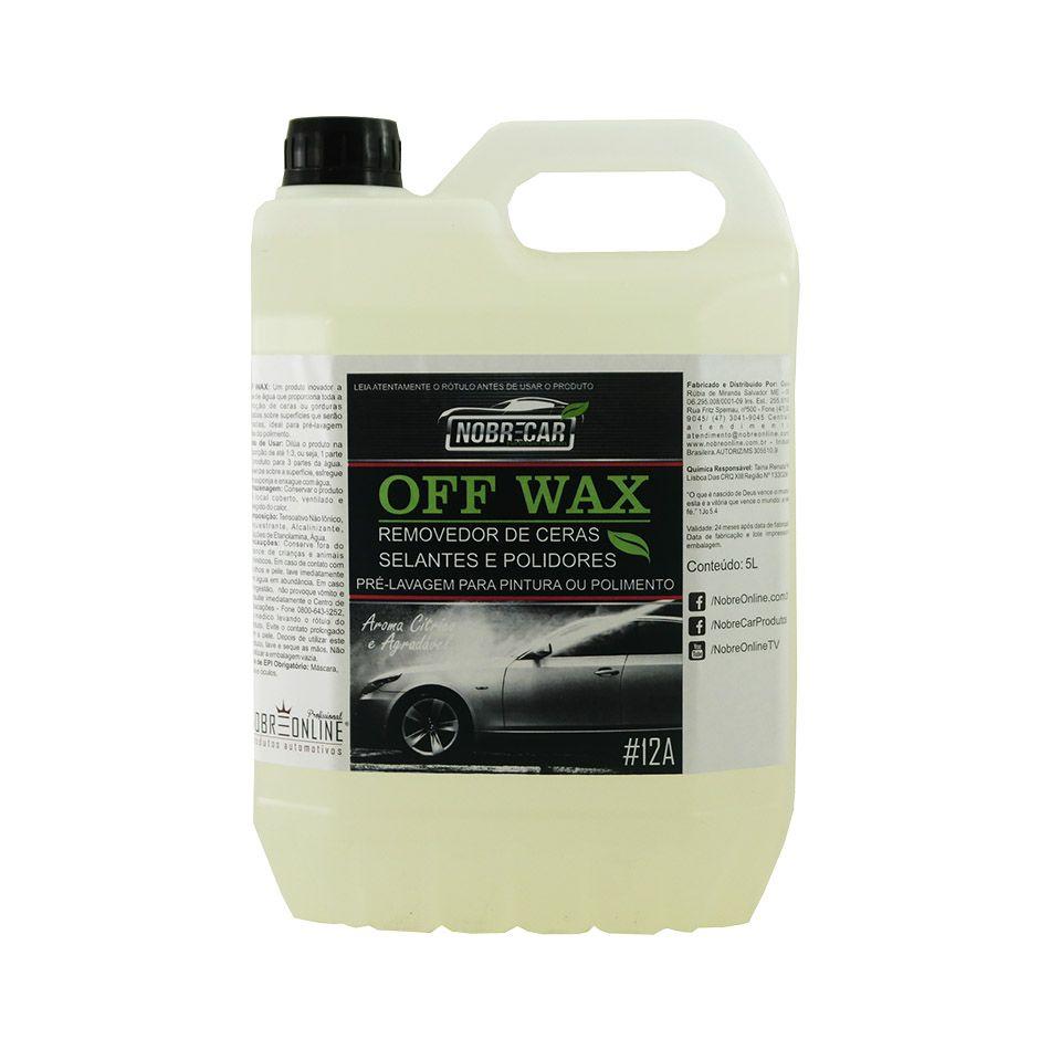 Detergente Off Wax Desengordurante e Removedor de Cera 5lt Nobre Car