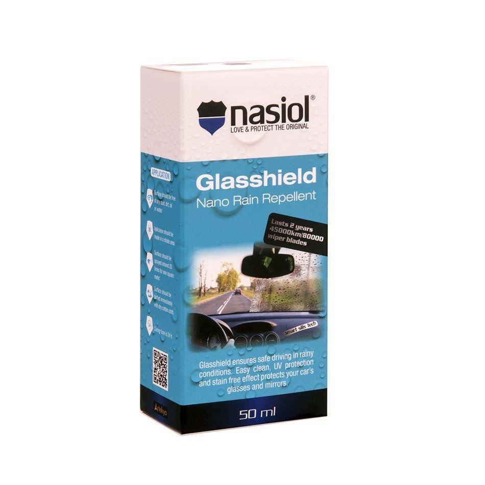 Kit de Repelente de Chuvas e Líquidos Glasshield 30ml + Limpador de Superfícies Clean 150ml Nasiol
