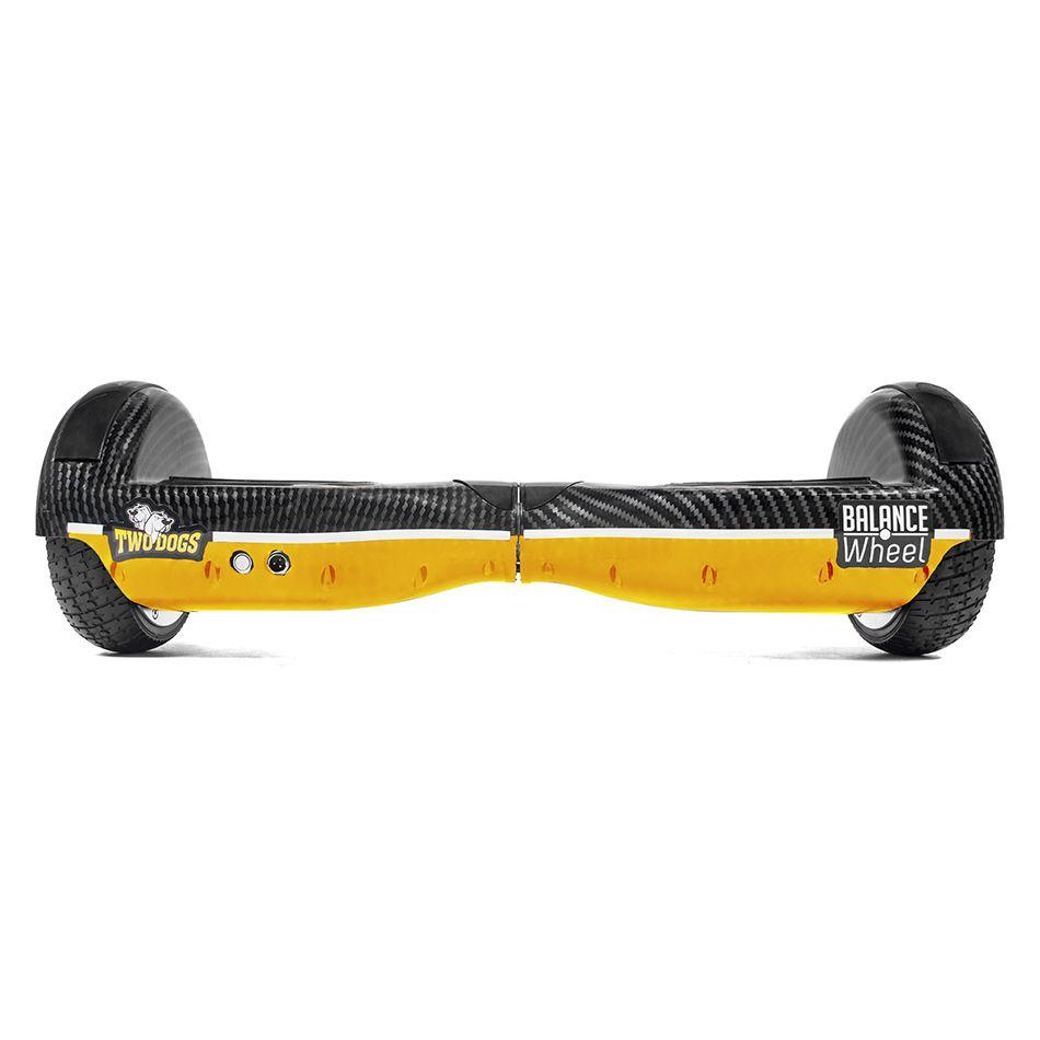 Hoverboard Balance Wheel Amarelo e Carbono Two Dogs