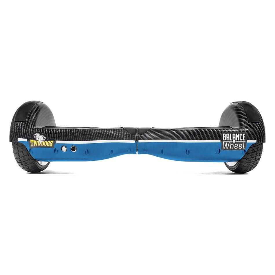 Hoverboard Balance Wheel Azul e Carbono Two Dogs