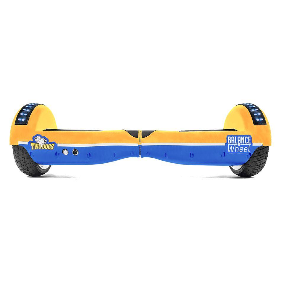 Hoverboard Balance Wheel Teen Amarelo e Azul com Led Two Dogs