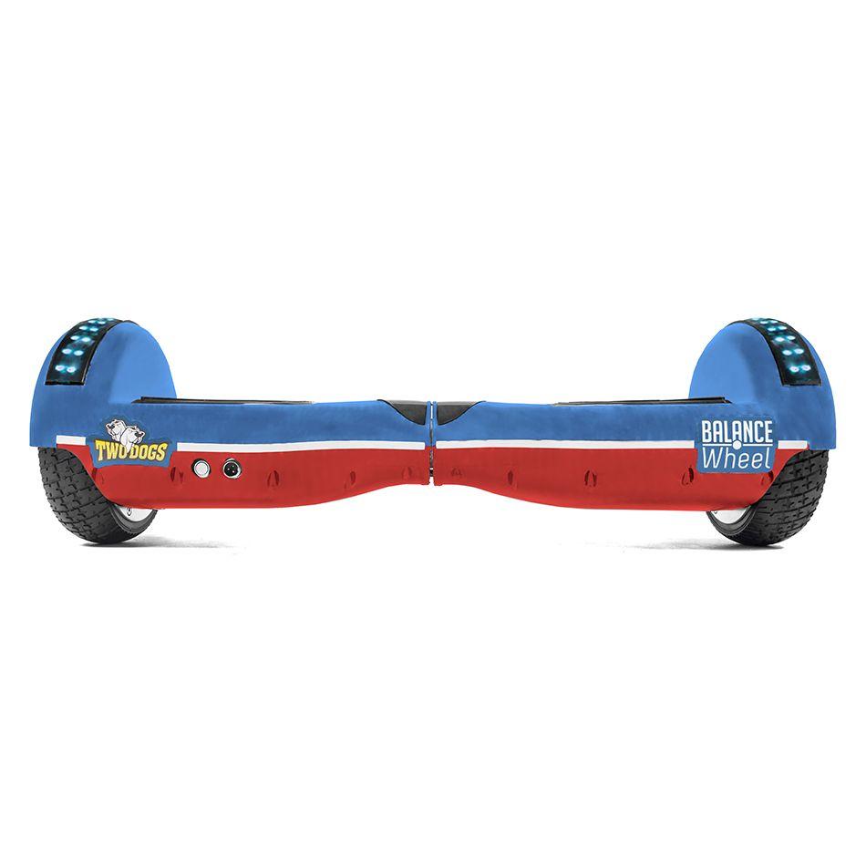 Hoverboard Balance Wheel Teen Azul e Vermelho com Led Two Dogs