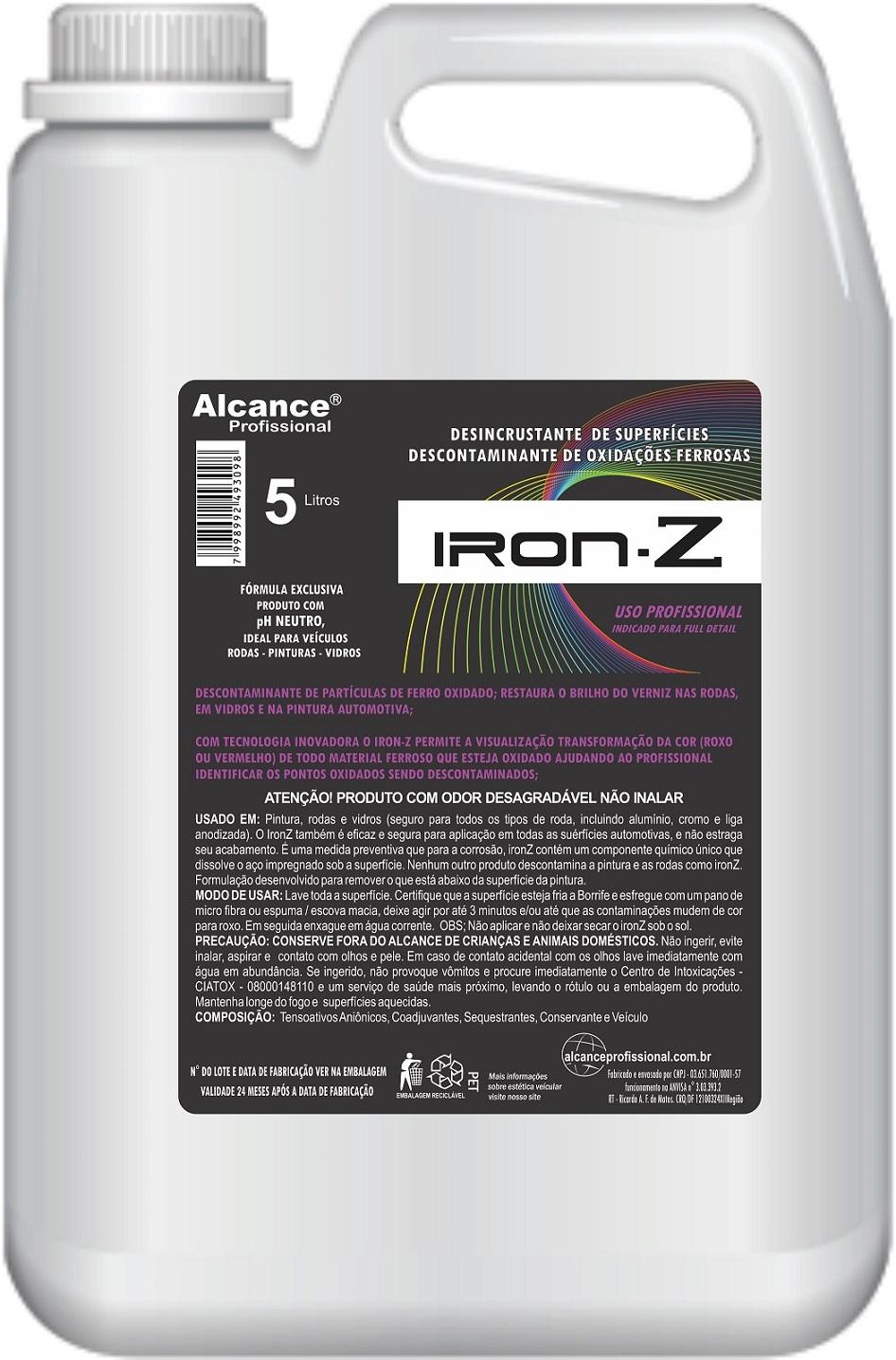 Iron-Z Descontaminante de Componente Ferroso 5lt Alcance Profissional