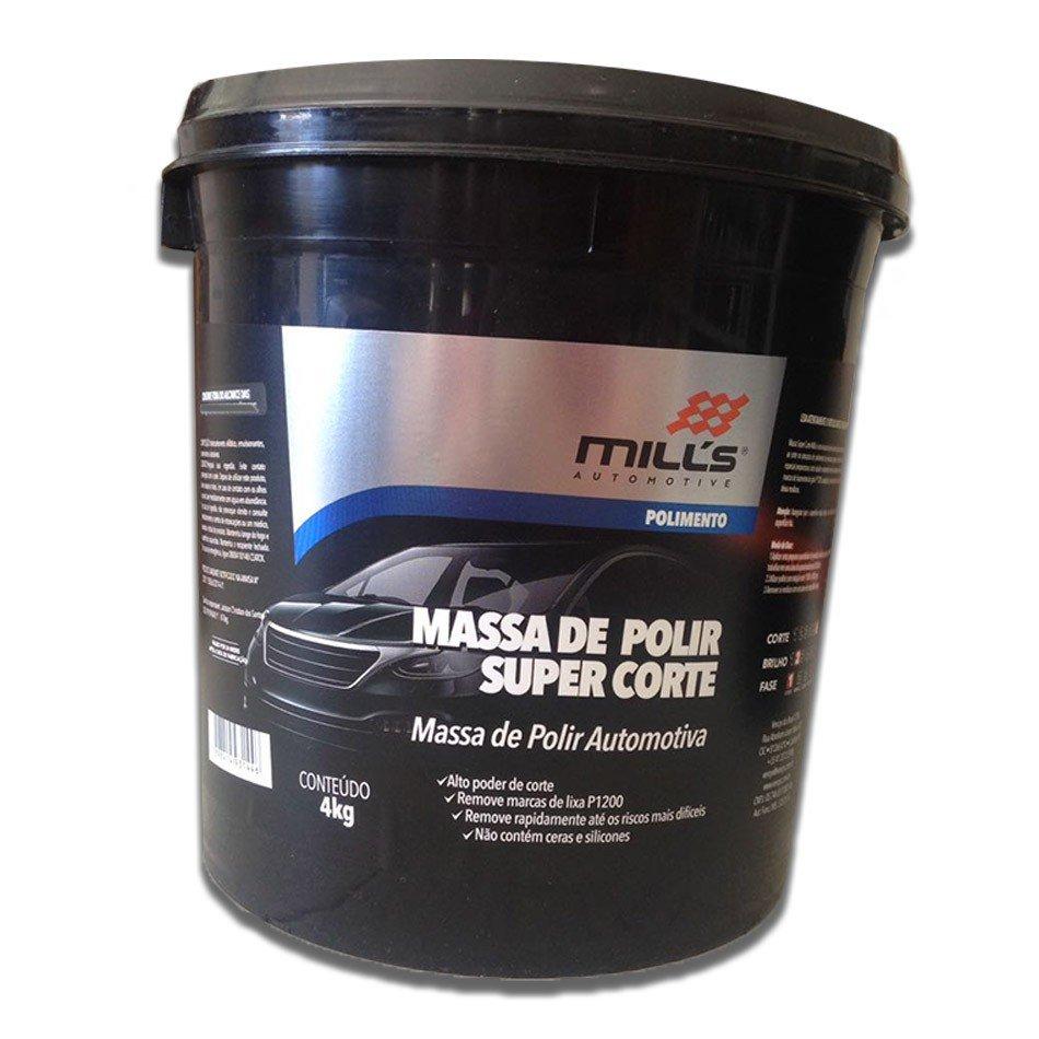 Kit 2 Massa De Polir Super Corte Mills 4kg