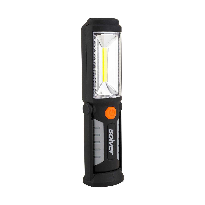 Lanterna Tipo COB Com Imã Recarregável Em LED SLP-302 Solver