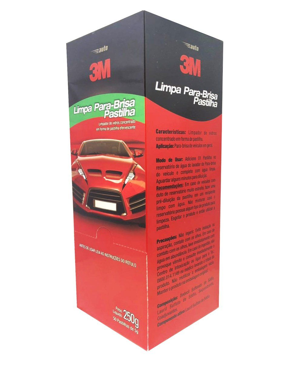 Pastilha Limpa Para-brisa 5g (Caixa com 50 unidades) 3M