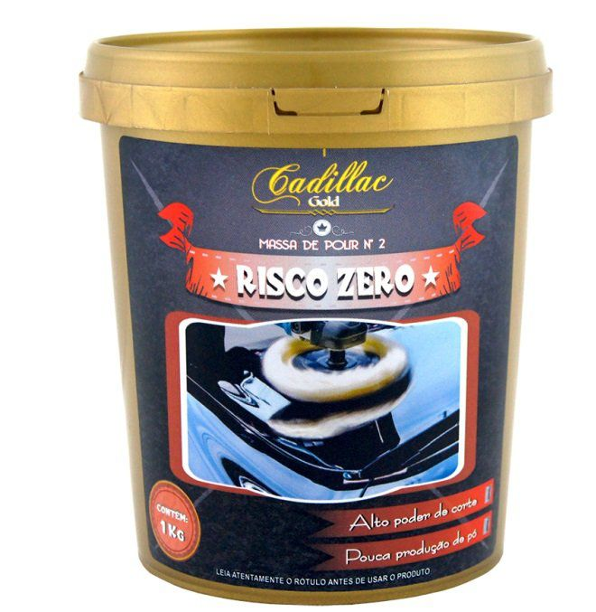 Massa de Polir Risco Zero 1kg Cadillac