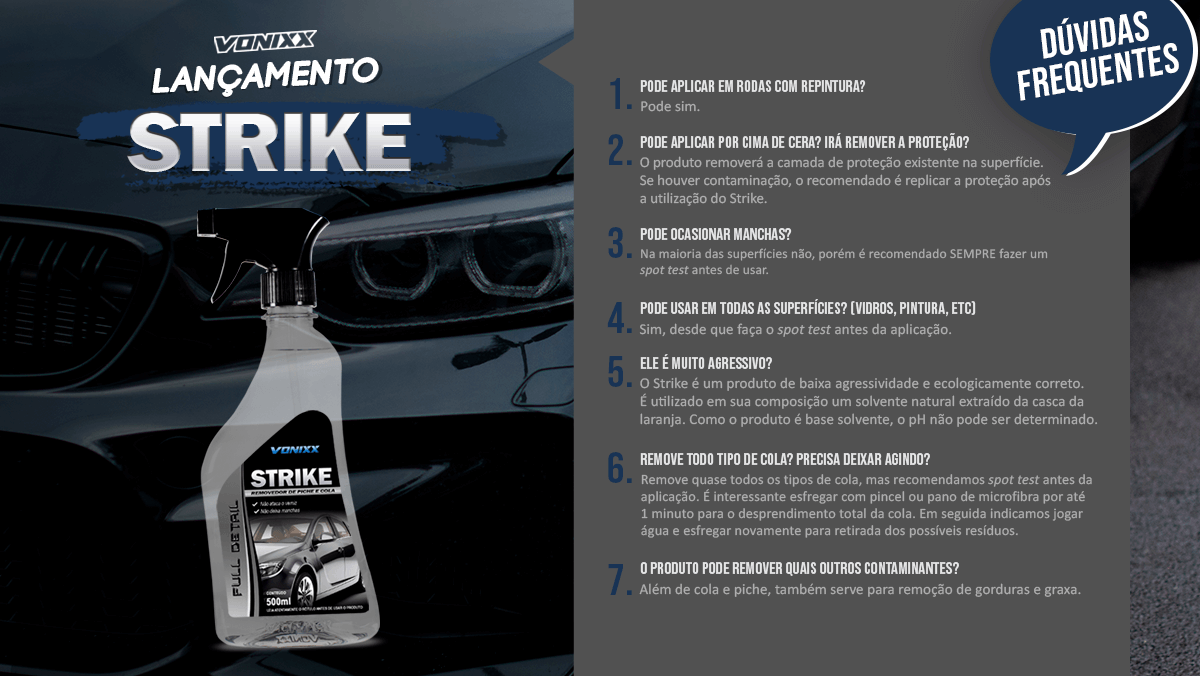 Removedor de Cola Strike 500ml Vonixx