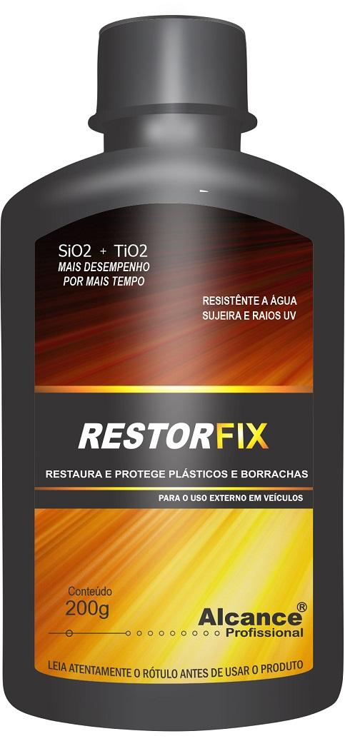 Restorfix Restaurador de Plásticos Externos 200ml Alcance Profissional