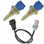 Kit 2 Plug Eletronico + Sensor Rotacao - Uno 1997 A 2004 - 4053 / 7033 / KIT01818