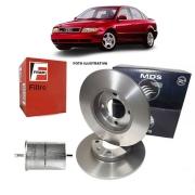 Kit Disco Freio Traseiro + Filtro Combustivel - KIT02032