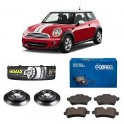 Kit Discos e Pastilhas Traseiras Cooper 1.6 2009 a 2012