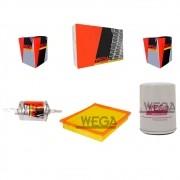 Kit Filtro Ar do Motor Filtro Oleo Filtro de Combustivel - Palio 2000 A 2004 - FAP 2831 / WO 120 / FCI 1110S / KIT01613