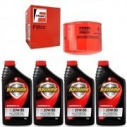 Kit Filtro de Oleo + 4 Litros Oleo Havoline Superior SL 20W50 - Escort 1989 A 1992 - PH927A / SAE20W50SL / KIT01808