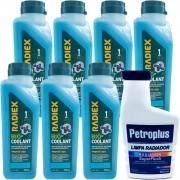 Kit Limpa Radiador Petroplus + Aditivo Radiador Ps2G Azul - Kit00948