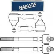 Kit Par Terminal Direção Direito Esquerdo + Par Articulação Axial - Ecosport 2003 Á 2007 / Fiesta 2002 Á 2010