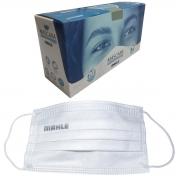 Máscara Facial Camada Dupla Proteção Com Elástico e Clip Nasal Ajuste no Nariz Caixa Com 20 Unidades Descartável - MAHLE