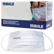 Máscara Facial Camada Dupla Proteção Com Elástico e Clip Nasal Ajuste no Nariz Caixa Com 40 Unidades Descartável - MAHLE