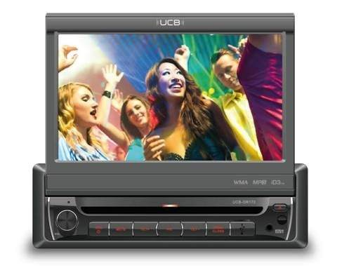 Dvd Player Ucb Dr 170 Touch Retrâtil Usb Mp3 Connect Am Fm - Dr170  - Conexao Brasil Autopeças