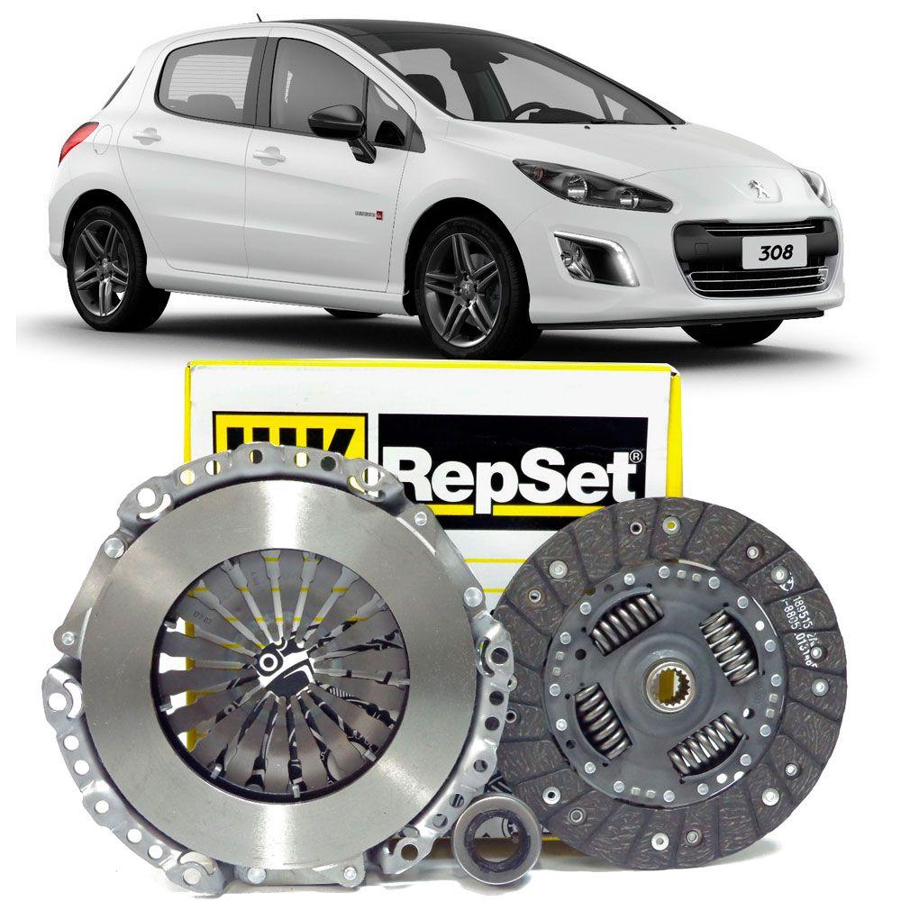 Kit Embreagem Repset 200Mm 18 Estrias - Peugeot 308 2012 Á 2018 - 6203086000 - Kit00752  - Conexao Brasil Autopeças