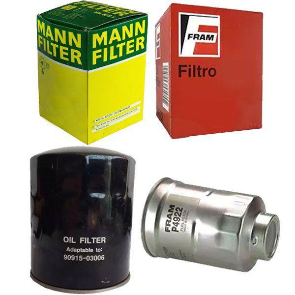Kit Filtro Oleo + Filtro Combustivel - Hilux Sw4 1997 Á 2002 - Kit00843  - Conexao Brasil Autopeças