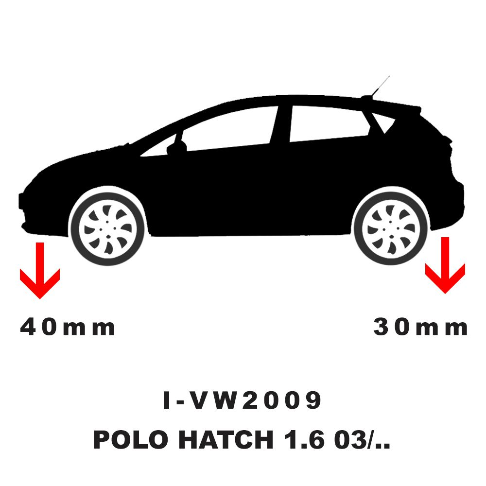 Kit Mola Esportiva Dianteira Traseira - Fox 2004 A 2016 / Polo 2003 A 2014 - Ivw2009  - Conexao Brasil Autopeças