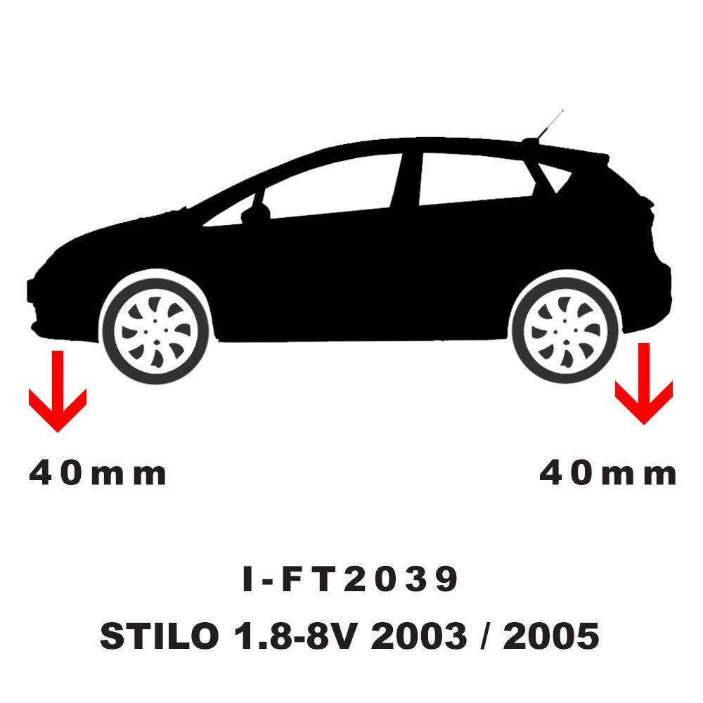 Kit Mola Esportiva Dianteira Traseira Stilo 2003 A 2011 - I-Ft2039  - Conexao Brasil Autopeças
