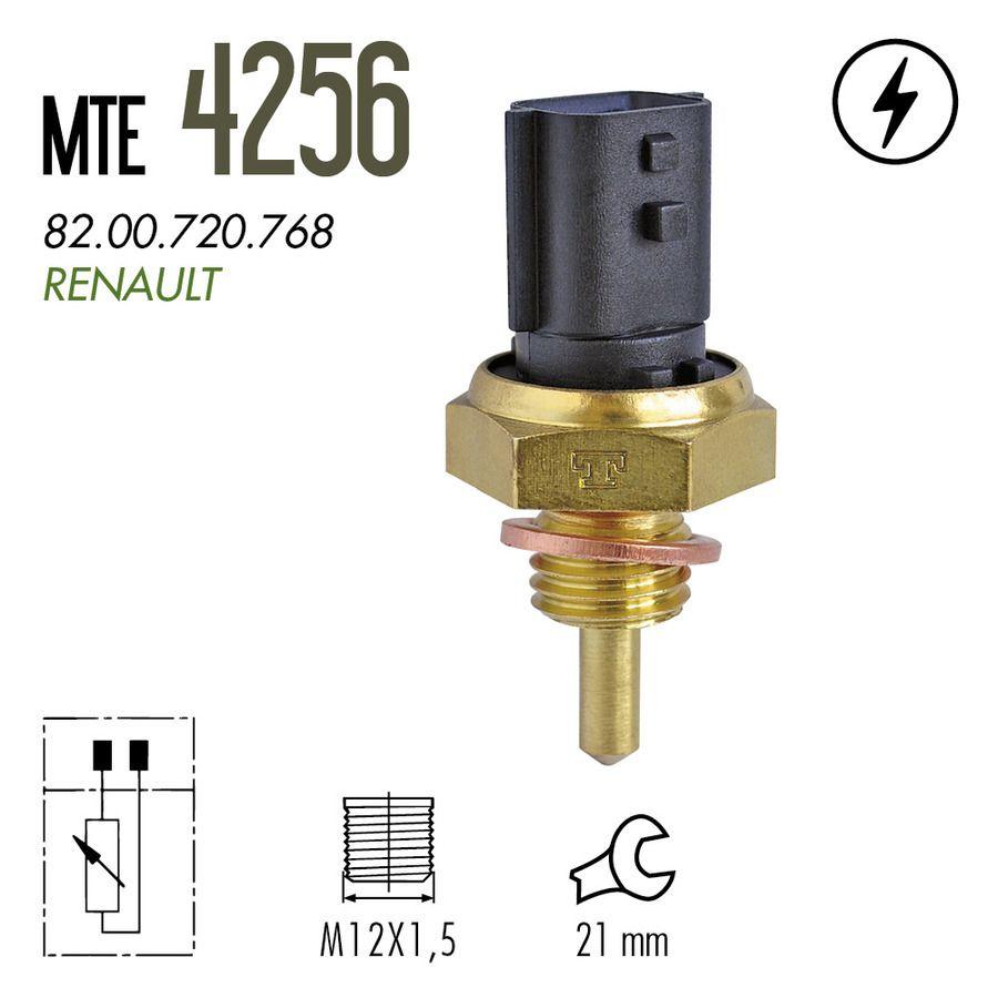 Plug Eletronico Sensor Temperatura Agua - Grand Scenic 2008 A 2009 / Megane 2003 A 2012 / Scenic 2004 A 2009 - 4256  - Conexao Brasil Autopeças