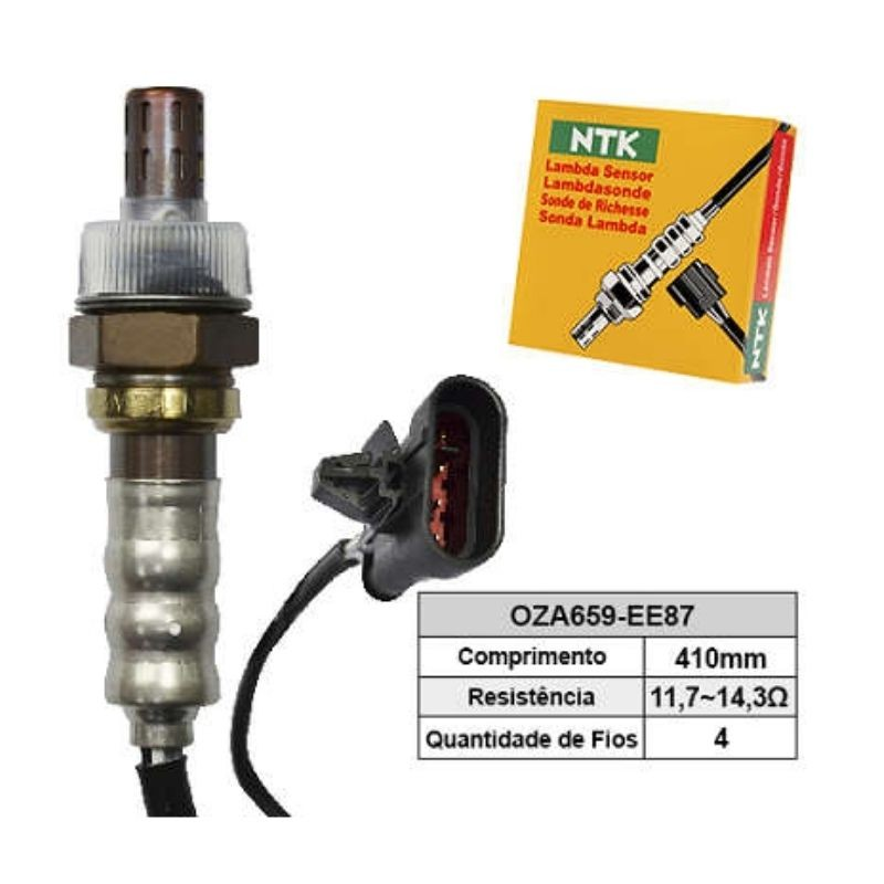 Sensor de Oxigenio Sonda Lambda - Blazer 2007 a 2012 / Corsa 2006 a 2010 / S10 2007 a 2011 - Oza659-Ee87  - Conexao Brasil Autopeças
